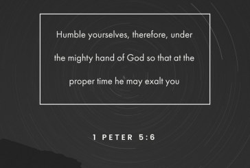 July 29th – 1st Peter 5:6